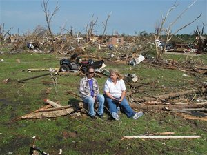 Devestated Joplin- death toll in the hundreds
